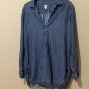 Ladies denim shirt. Gap. Medium